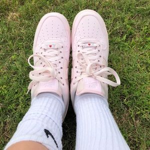 light pink valentines Air Force 1s